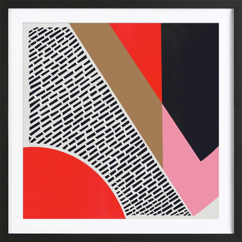 Pink Gold Red as Poster in Wooden Frame by Fox & Velvet | JUNIQE UK