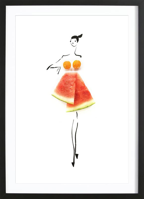 Tomato Melon as Poster in Wooden Frame by Gretchen Roehrs   JUNIQE