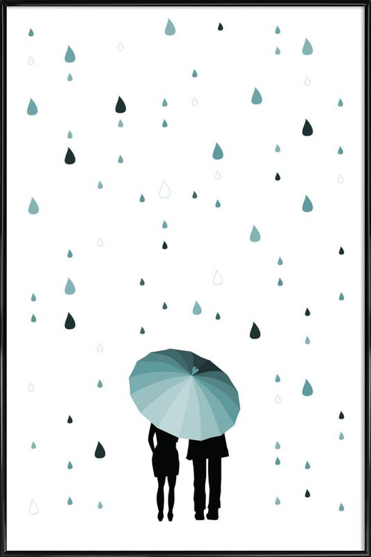 Rainy Days - Come Under My Umbrella as Poster in Standard Frame   JUNIQE