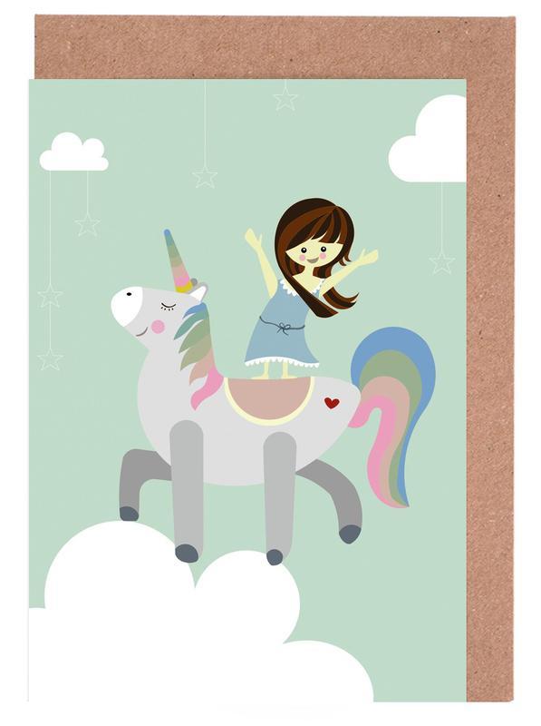 Unicorn as greeting card set by sabrina ziegenhorn juniqe m4hsunfo