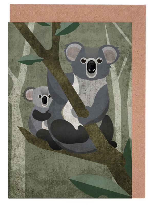 Koala as greeting card set by sabrina ziegenhorn juniqe uk home stationery greeting cards m4hsunfo