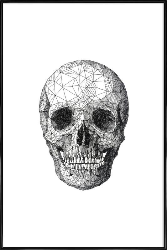 Skull as Poster in Standard Frame by Pen & Ink | JUNIQE