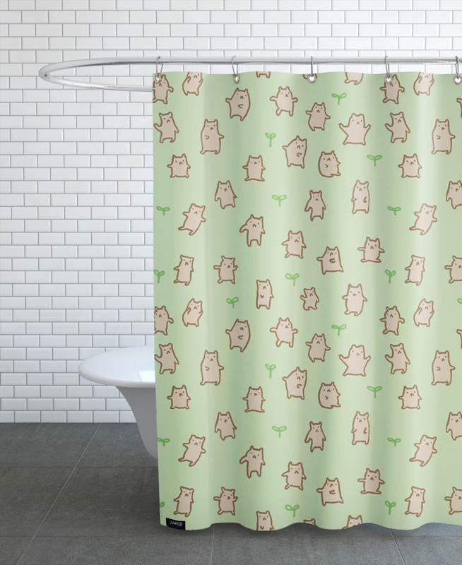 Tiny Bears Pattern As Shower Curtain By Sophie Corrigan