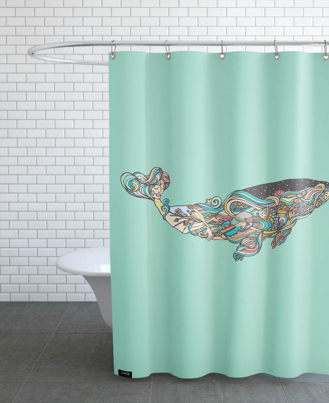 Whale As Shower Curtain By Ninhol