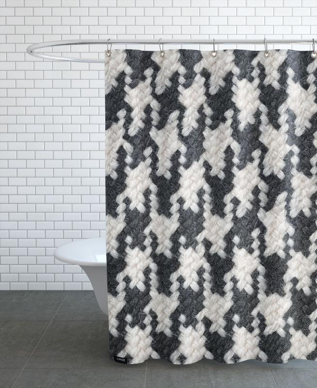 Houndstooth Pattern As Shower Curtain