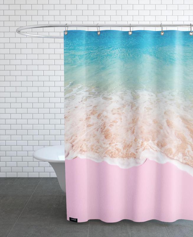pink sand als duschvorhang von paul fuentes juniqe. Black Bedroom Furniture Sets. Home Design Ideas