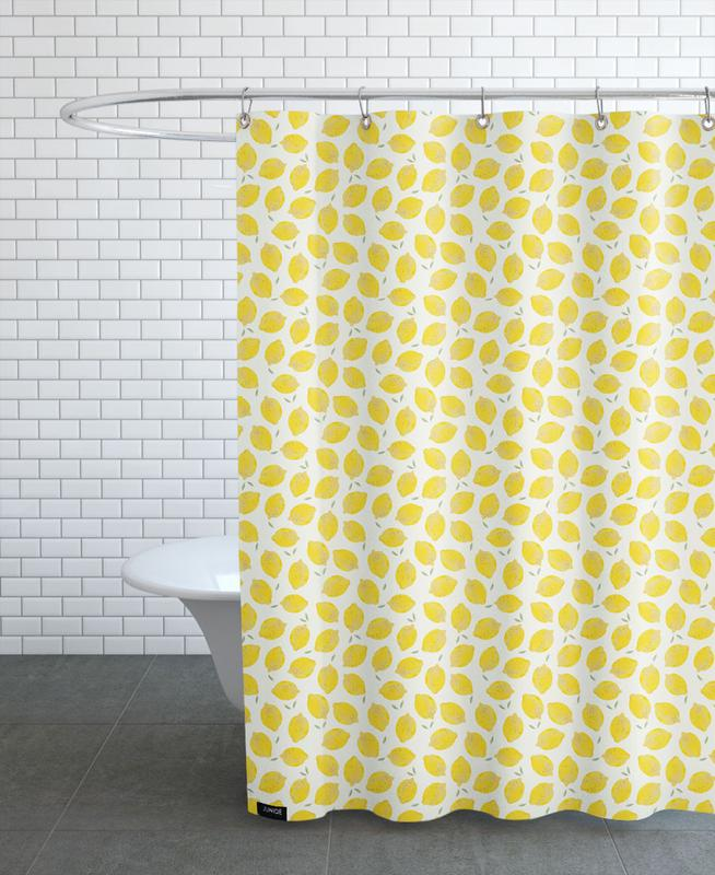 Lemon As Shower Curtain By Kind Of Style