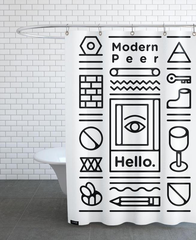 Duschvorhang Modern modern peer als duschvorhang dale juniqe