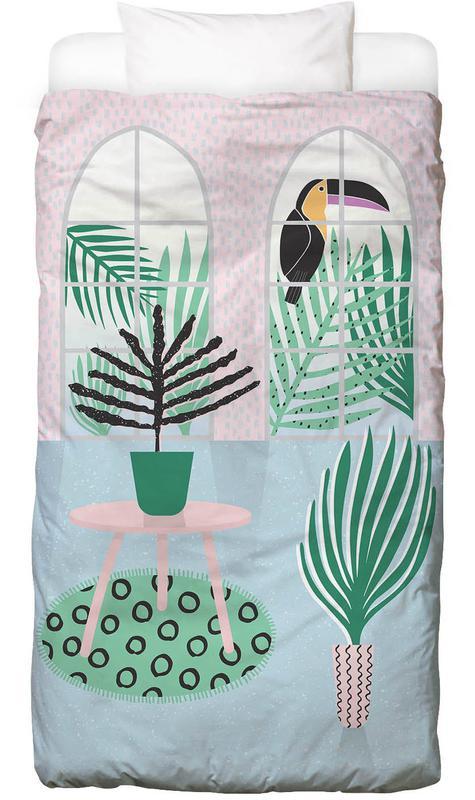 tropical dream en linge de lit par linda gobeta juniqe. Black Bedroom Furniture Sets. Home Design Ideas