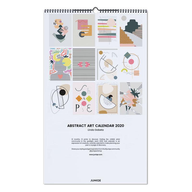 Poster Calendario 2020.Abstract Art Calendar 2020 Linda Gobeta Wall Calendar Juniqe
