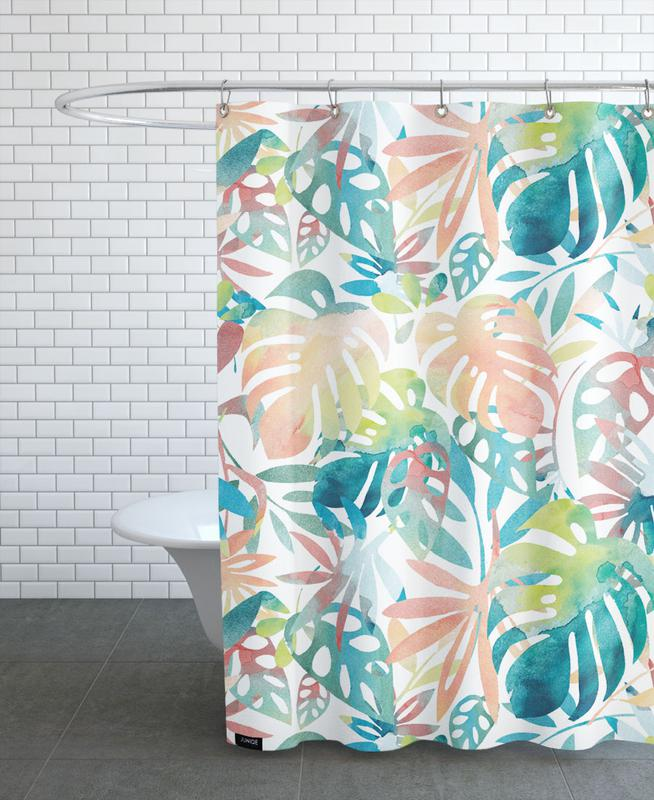 Jungle Leaves Light As Shower Curtain By Farina Kuklinski Juniqe Uk