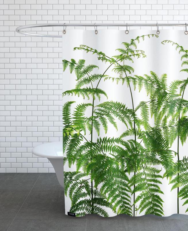flora adlerfarn als duschvorhang von tan kadam juniqe. Black Bedroom Furniture Sets. Home Design Ideas