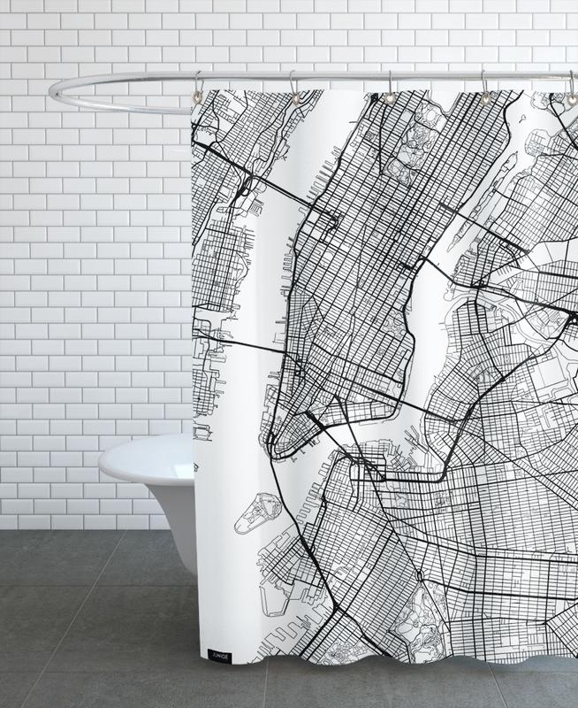 New York Minimal en Rideau de douche par Hubert Roguski | JUNIQE