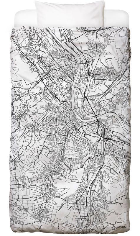 Basel minimal als bettw sche von hubert roguski juniqe for Minimal art kunstwerke