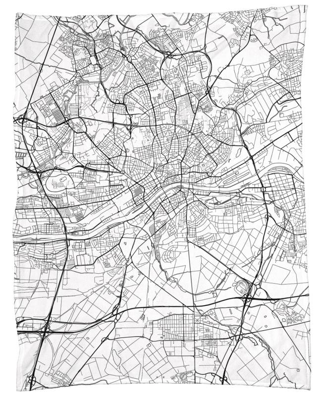 Frankfurt Minimal frankfurt minimal as fleece blanket by hubert roguski juniqe