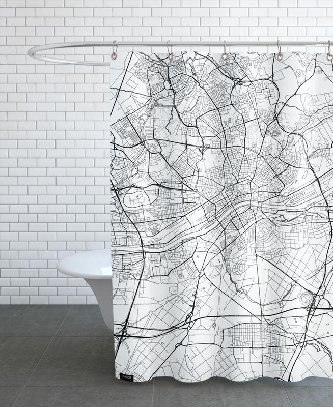 Frankfurt Minimal frankfurt minimal as shower curtain by hubert roguski juniqe