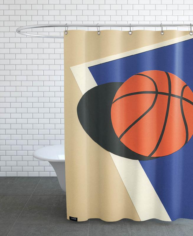 Oakland Basketball Team Shower Curtain