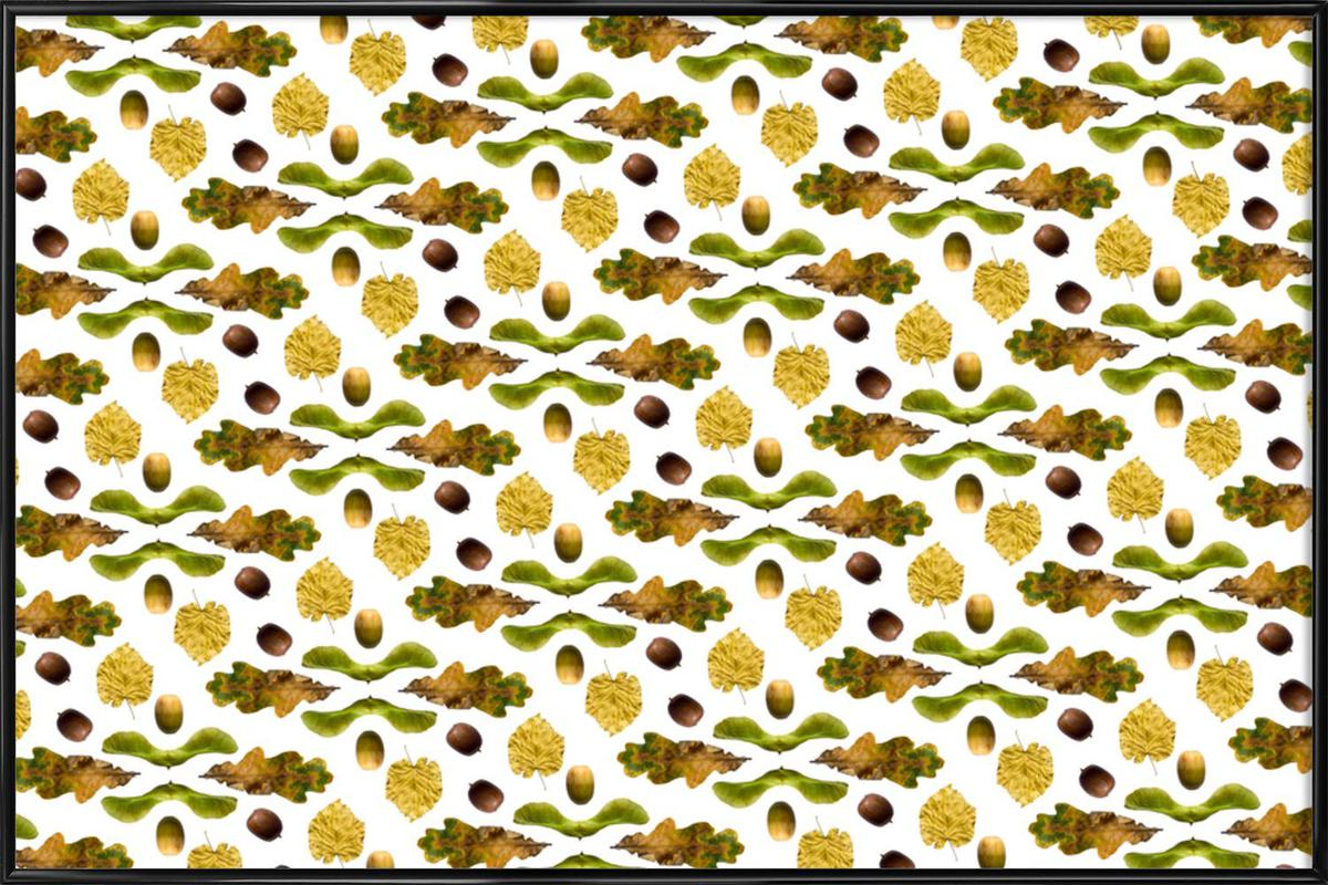 PATTERN AUTUNNALE III as Poster in Standard Frame | JUNIQE