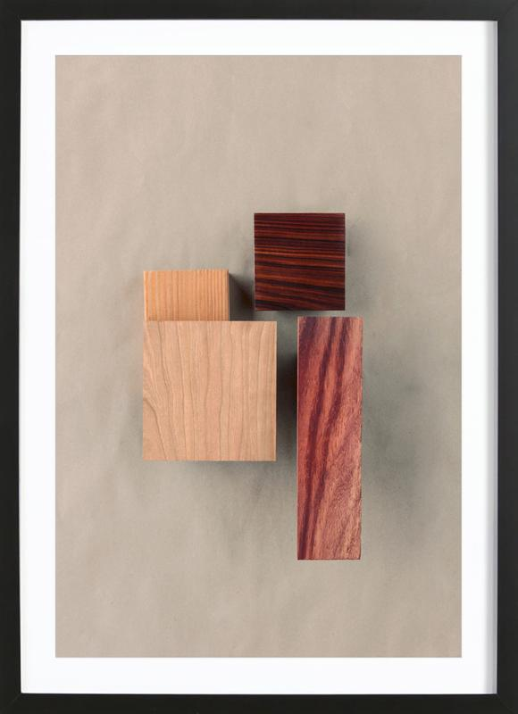 Cherry Cocobolo Padauk Wood I As Poster In Wooden Frame Juniqe