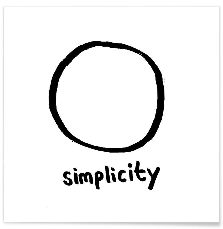 Simplicity als Premium Poster von Esra Gülmen | JUNIQE