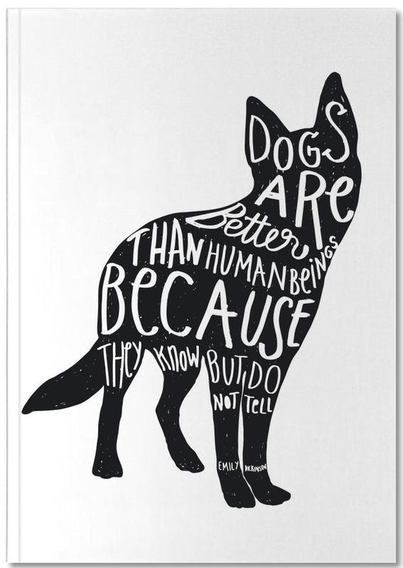 dickinson 39 s dog als premium notizbuch von esra g lmen juniqe. Black Bedroom Furniture Sets. Home Design Ideas