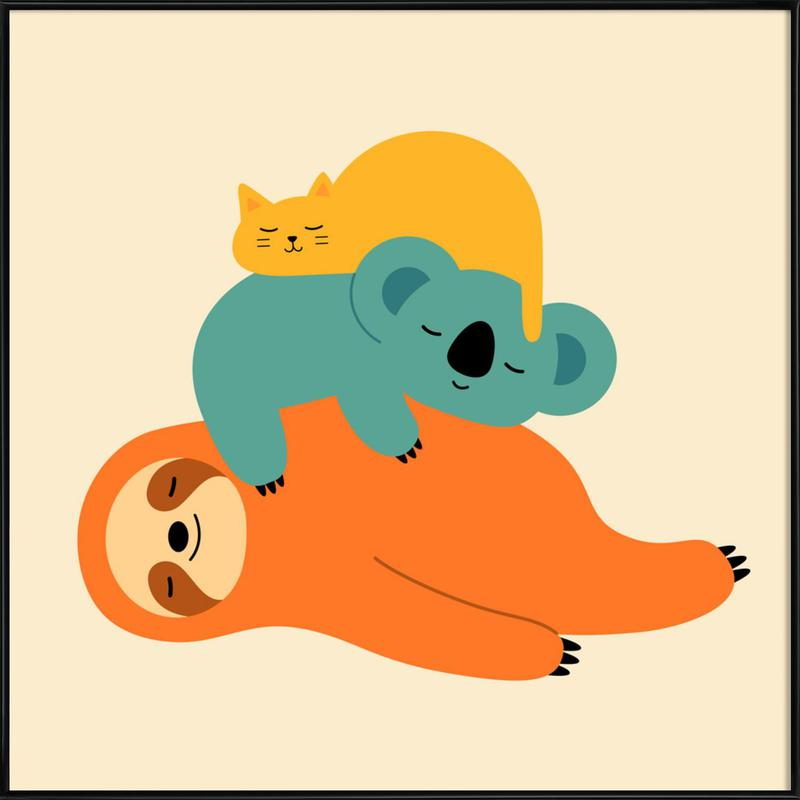 Being Lazy as Poster in Standard Frame by Andy Westface | JUNIQE UK