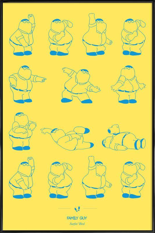 Family Guy - Surfin\' Bird as Poster in Standard Frame | JUNIQE