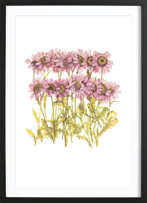 Dried Flowers as Poster in Wooden Frame   JUNIQE