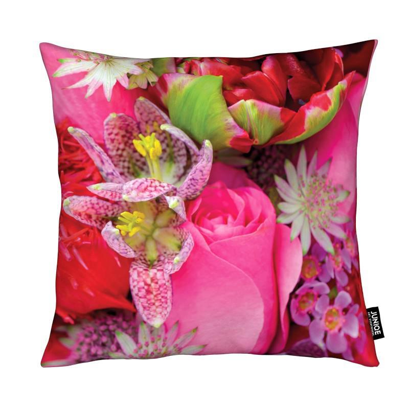 flower power als kissen juniqe. Black Bedroom Furniture Sets. Home Design Ideas