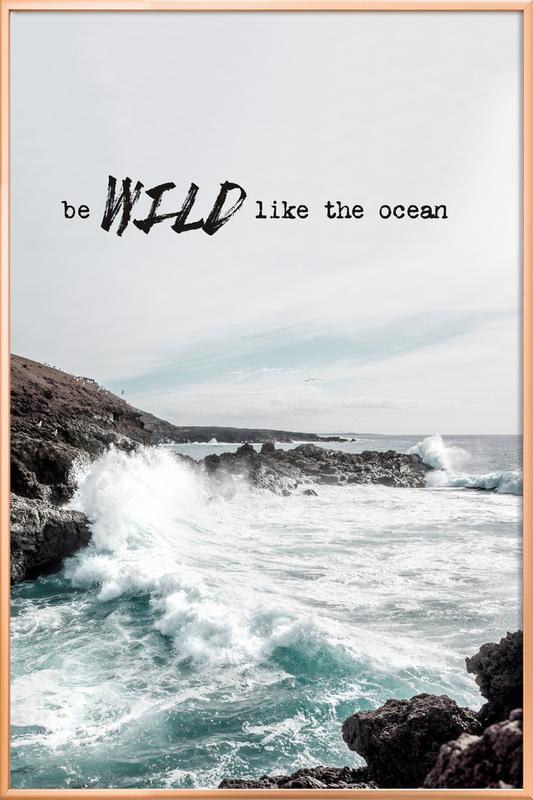 Wild like the ocean as Poster in Aluminium Frame | JUNIQE
