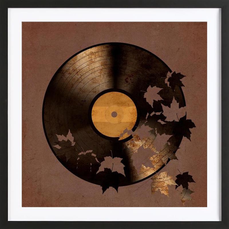 autumn song als poster im holzrahmen von terry fan juniqe ch. Black Bedroom Furniture Sets. Home Design Ideas