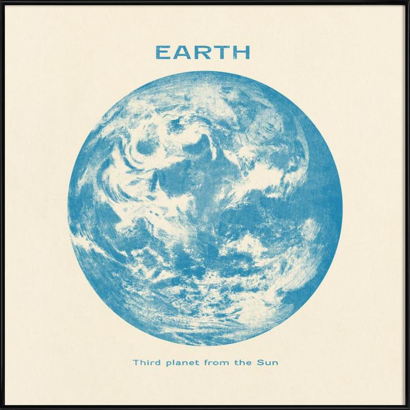 Earth as Poster in Standard Frame by Terry Fan | JUNIQE UK