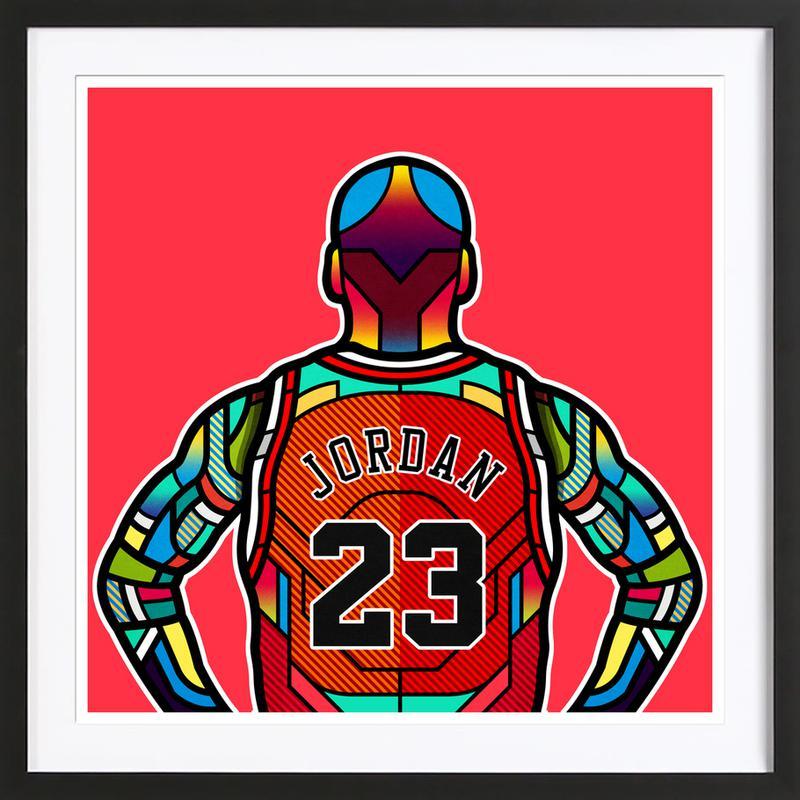 Jordan als Poster im Holzrahmen von Van Orton Design | JUNIQE