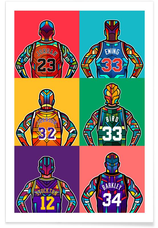 dd78c59f3296 NBA Legends as Poster by Van Orton Design