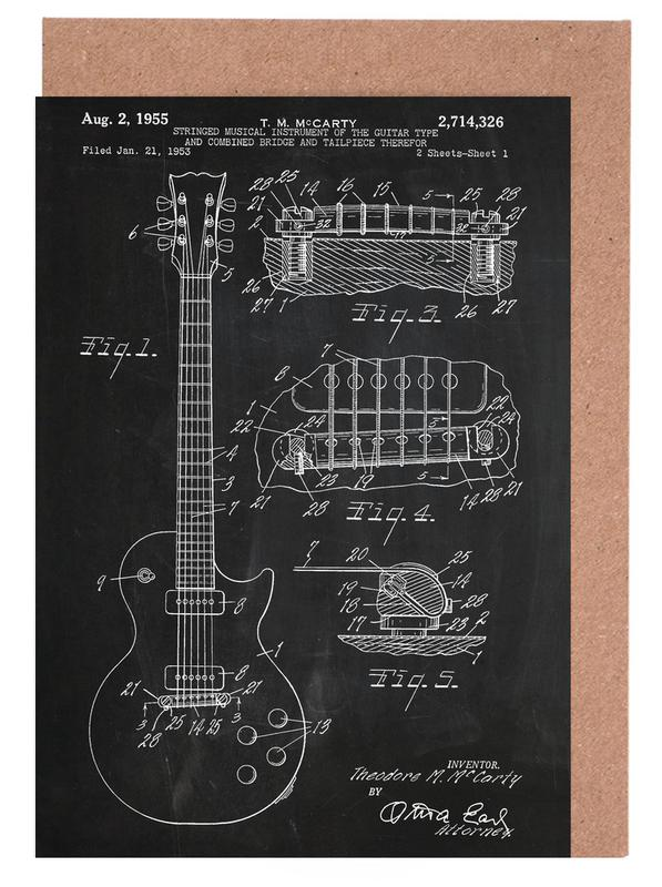 Guitar as greeting card set by stanley print house juniqe m4hsunfo