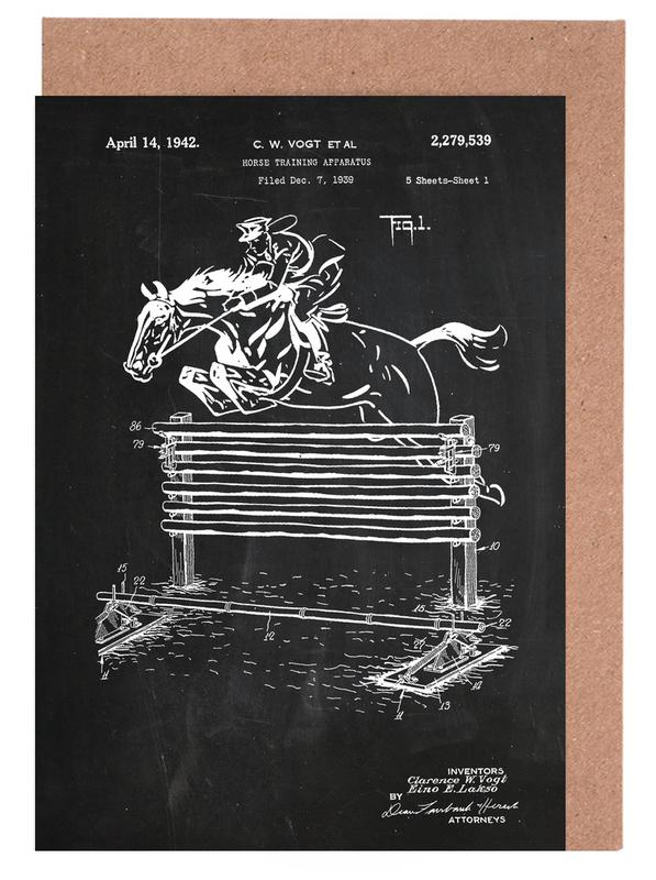 Horse jump as greeting card set by stanley print house juniqe home stationery greeting cards m4hsunfo