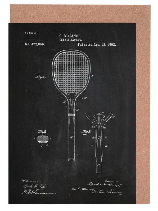 Tennis racket as greeting card set by stanley print house juniqe m4hsunfo
