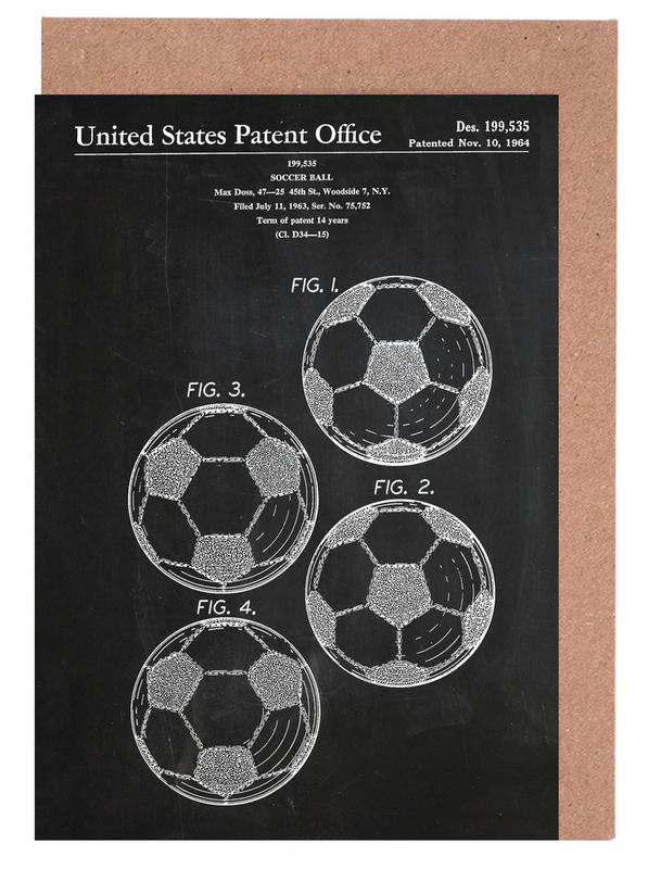 Soccer ball as greeting card set by stanley print house juniqe uk home stationery greeting cards m4hsunfo