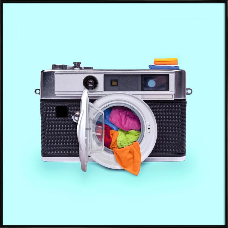 Washing Camera as Poster in Standard Frame by Paul Fuentes | JUNIQE