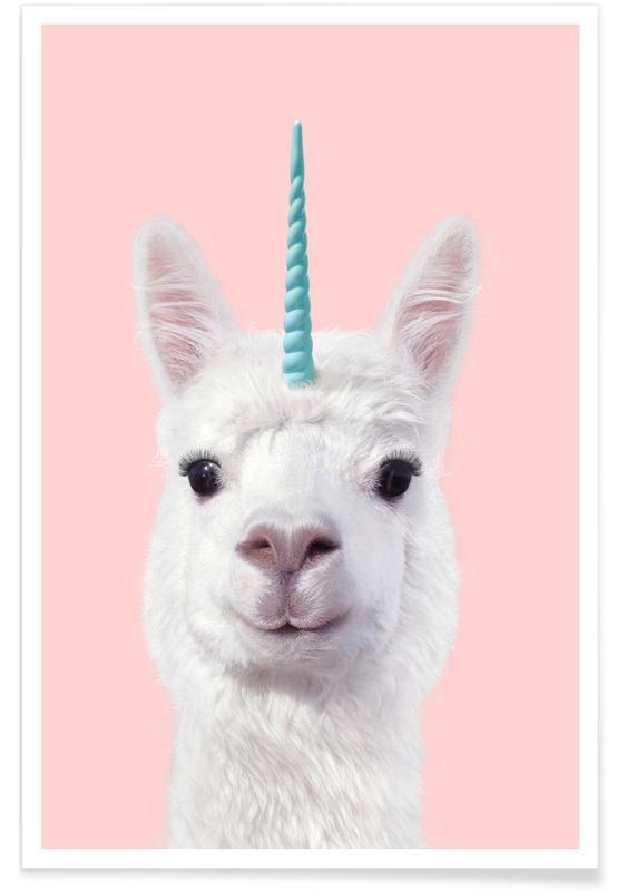 Alpaca Unicorn Poster Juniqe