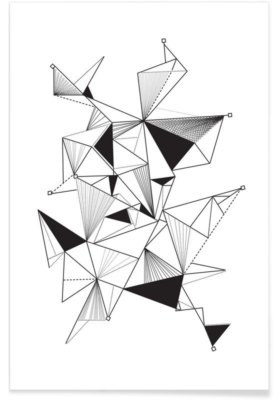 Triangle Composition As Premium Poster By Petitecaps Juniqe