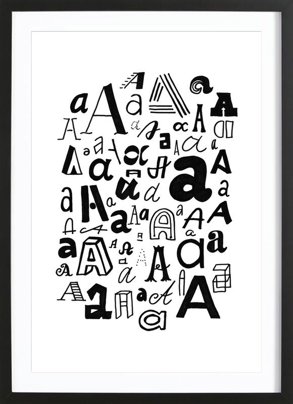 Aa as Poster in Wooden Frame by petiteCAPS | JUNIQE