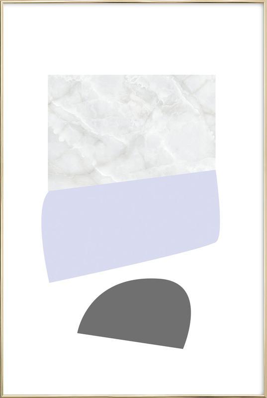 Pastel Shapes as Poster in Aluminium Frame by petiteCAPS | JUNIQE