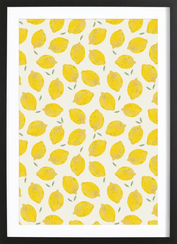 lemon als poster im holzrahmen von kind of style juniqe. Black Bedroom Furniture Sets. Home Design Ideas