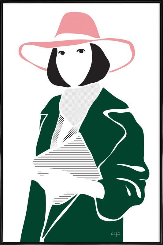 Girl in a Hat as Poster in Standard Frame by Linda Gobeta | JUNIQE