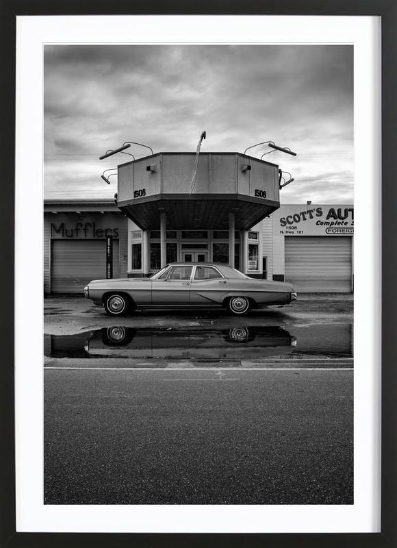 Framed canvas buick retro car MANY SIZES birthday gift