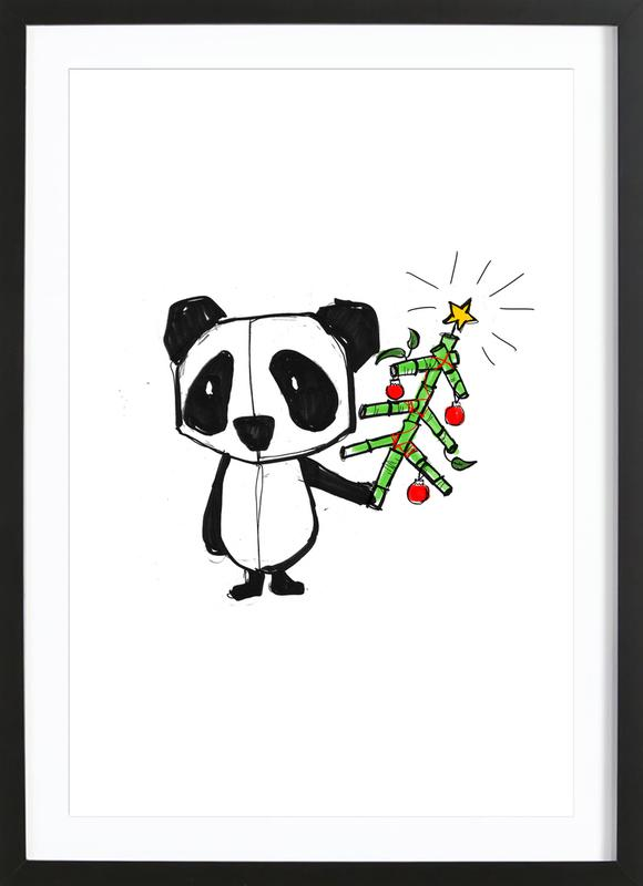 Panda As Poster In Wooden Frame By Doozal Juniqe