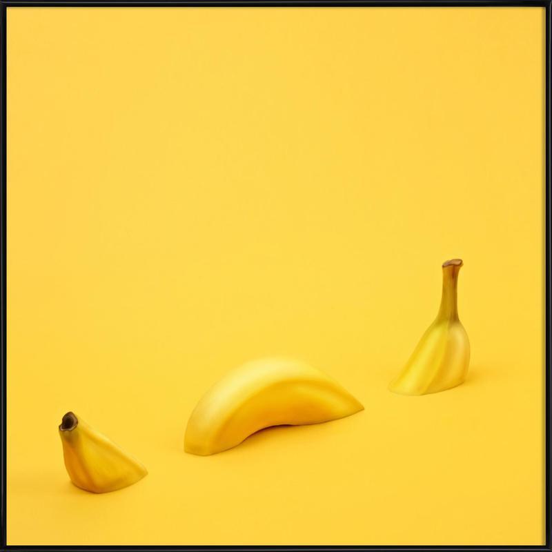 loch ness banana as poster in standard frame by juj winn juniqe