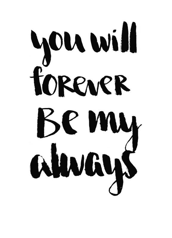 forever my always as canvas print by brushmeetspaper juniqe