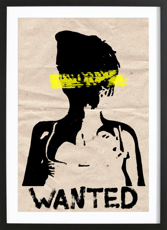 Wanted as Poster in Wooden Frame by Mia Nissen | JUNIQE